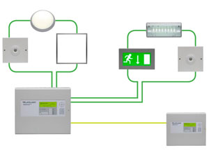 the lux intelligent emergency lighting test systemthe emergency lighting network connects the lighting panel to the plus in the lights around your facility using your existing lan or a dedicated network